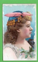 Antique 1891 cigarette card by Duke's Stars of the Stage #366